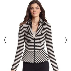 WHBM Striped Ponte knit jacket